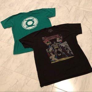 DC comics. 2 men's shirts.. EUC!